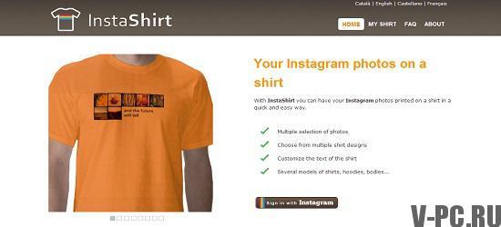 печатать фото на одежду из инстаграма