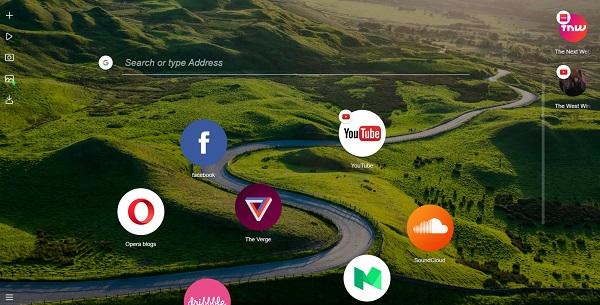 скачать браузер Opera Neon